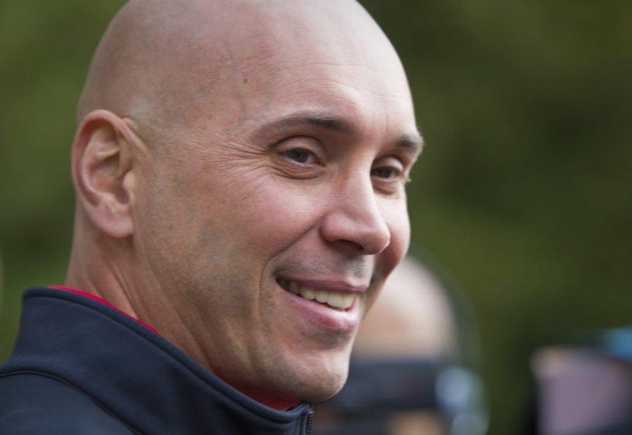 L'entraîneur-chef des Bulldogs de Hamilton, Sylvain Lefebvre. | 19 septembre 2012