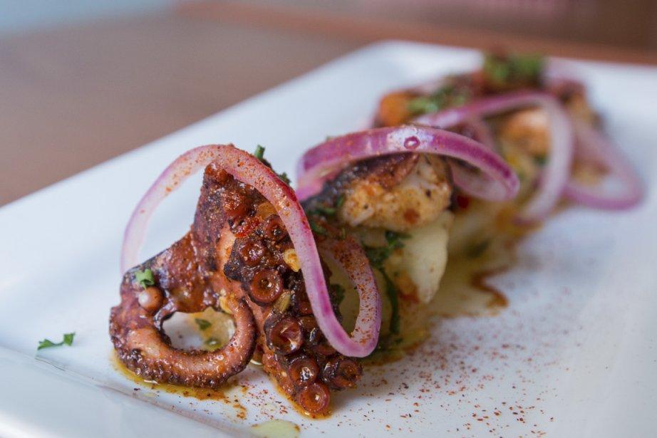 Une assiette de pieuvre à l'ancienne du restaurant... (Photo: Édouard Plante-Fréchette, La Presse)