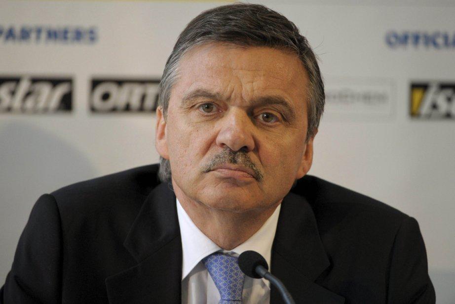 Le président de la Fédération internationale de hockey... (Photo: AFP)