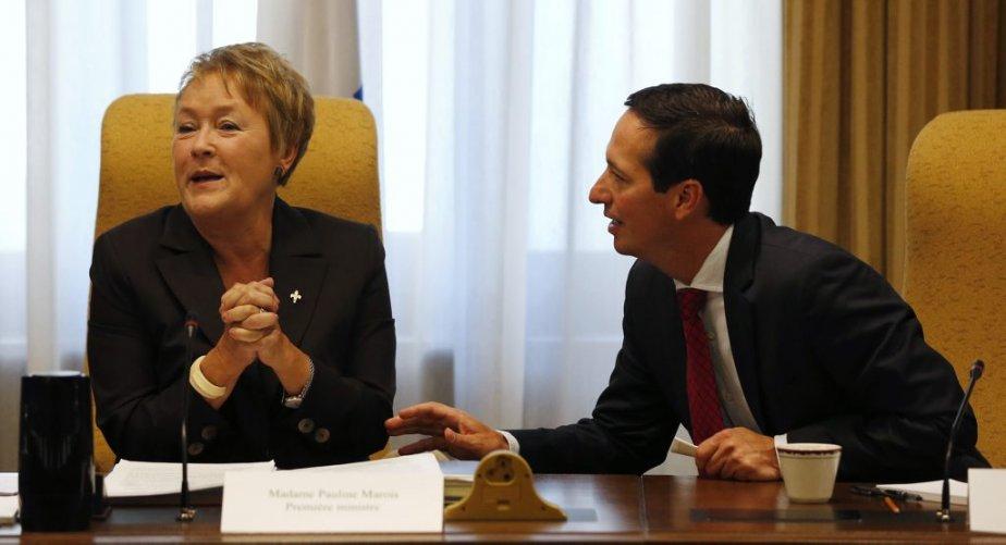 Pauline Marois et Stéphane Bédard. | 20 septembre 2012