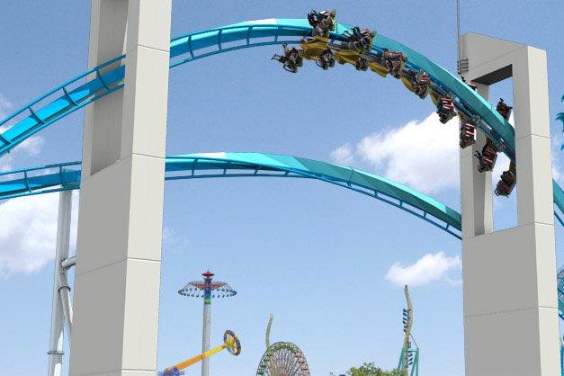 Le manège GateKeeper au parc Cedar Point.... (Image tirée du site cedarpoint.com)