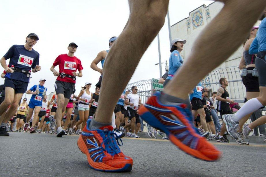 Pour la première fois de l'histoire du marathon... (Photo Robert Skinner, archives La Presse)