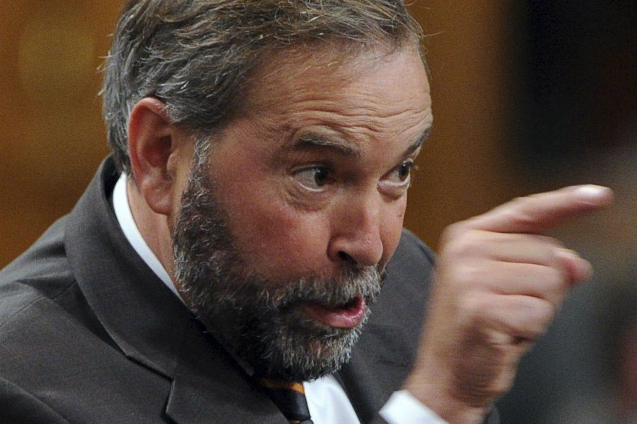Le chef du NPD, Thomas Mulcair. lors de... (Photo Sean Kilpatrick, La Presse Canadienne)