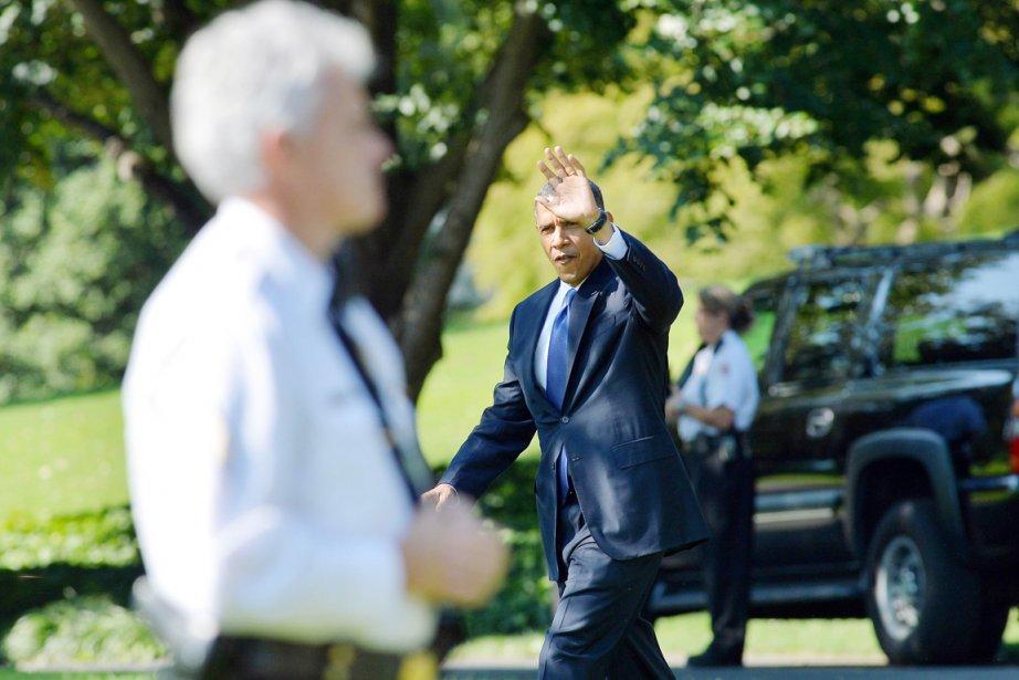 Barack Obama quitte la Maison-Blanche pour se rendre... (PHOTO JEWEL SAMAD, REUTERS)