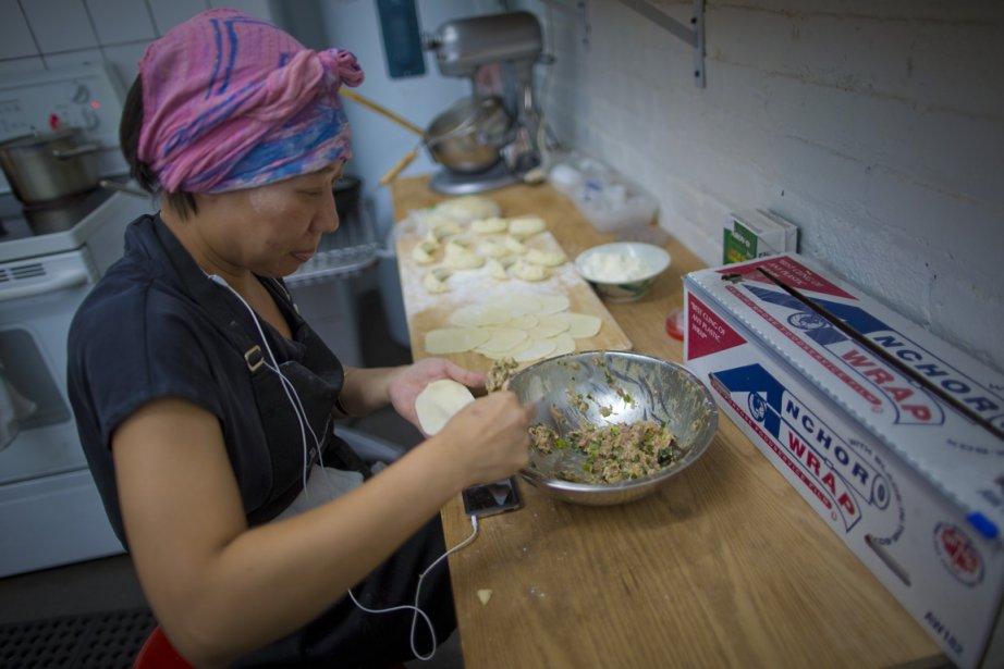 Différentes saveurs de dumplings sont offertes à ce... (Photo: André Pichette, La Presse)