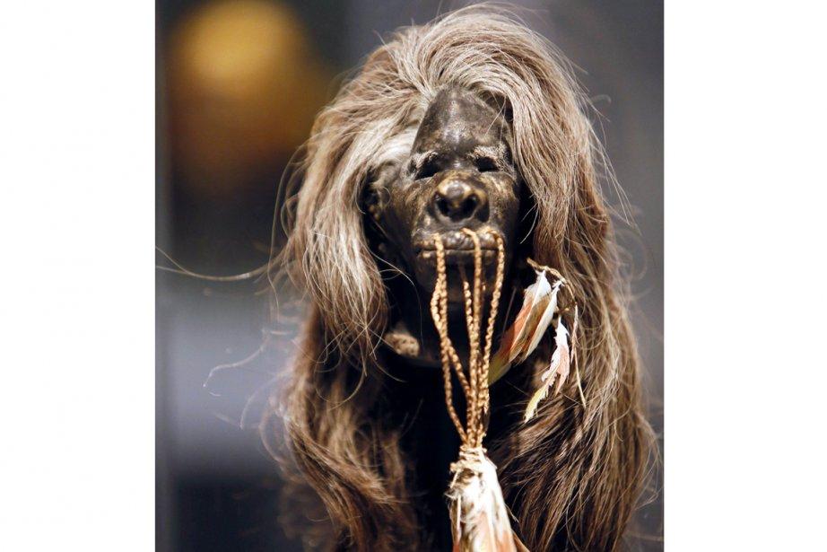 Une femme de la tribu Shuar, en Équateur,... (Photo Kenzo Tribouillard, AFP)