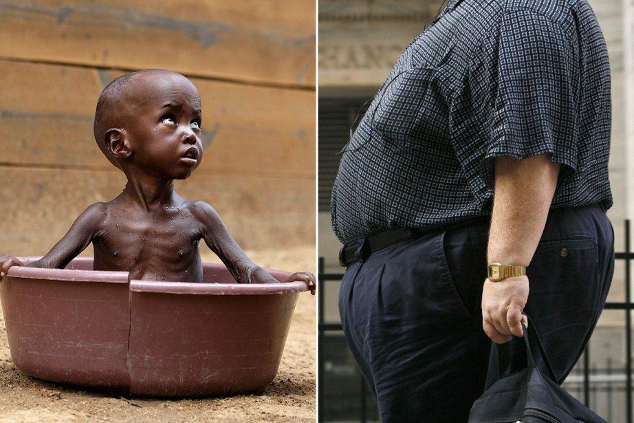 Un milliard d'humains meurent de faim. Un... (Photo: archives AP et Reuters)