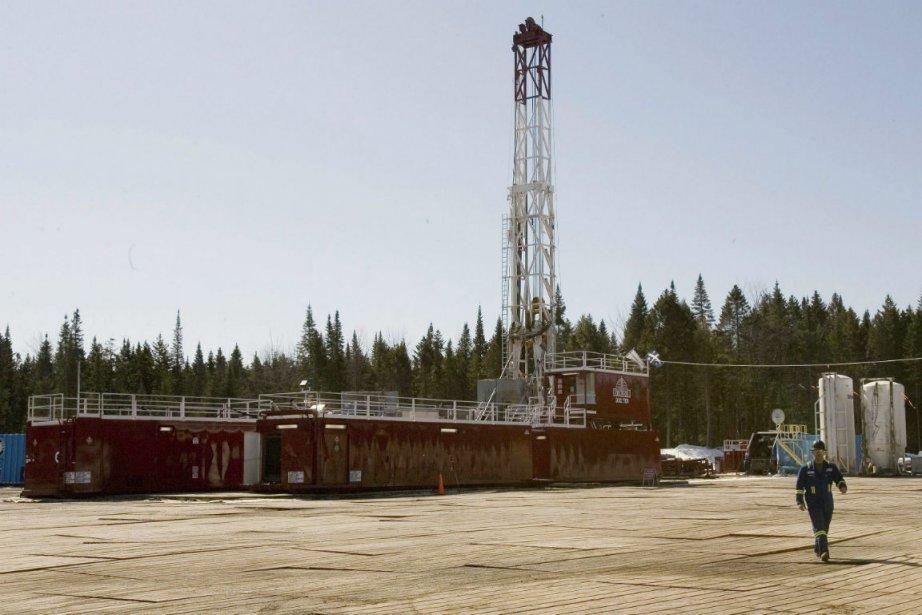 Une zone d'exploration du gaz de schiste, dans... (Photo Jacques Boissinot, La Presse Canadienne)