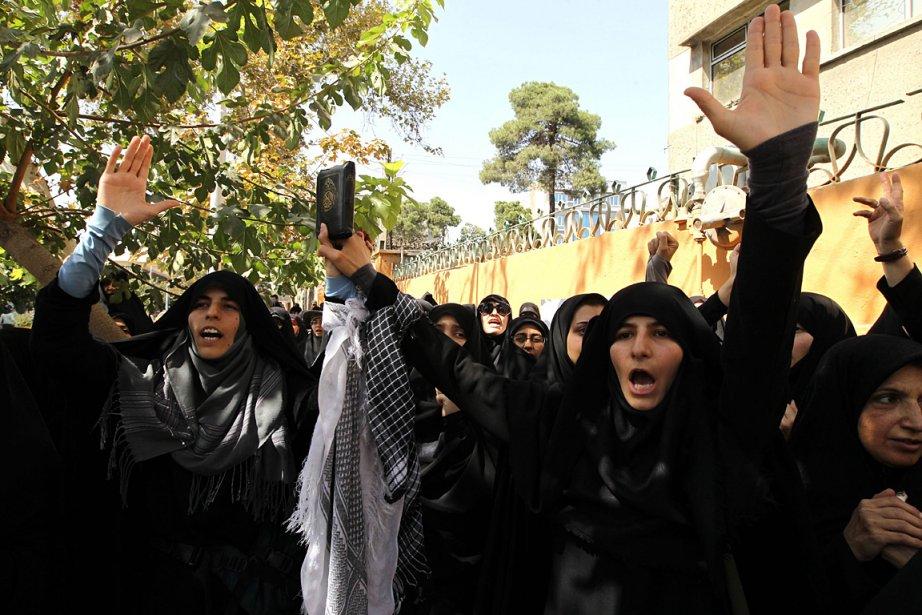 Des femmes ont aussi manifesté le 20 septembre... (Photo: AFP)