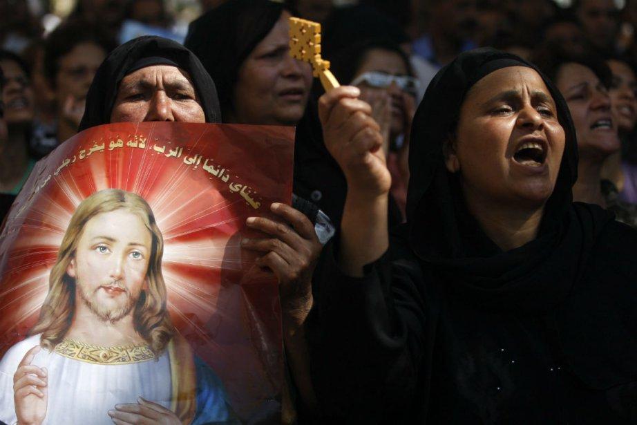 Le synode de l'Église orthodoxe copte, la plus... (Photo Khalil Hamra, Associated Press)
