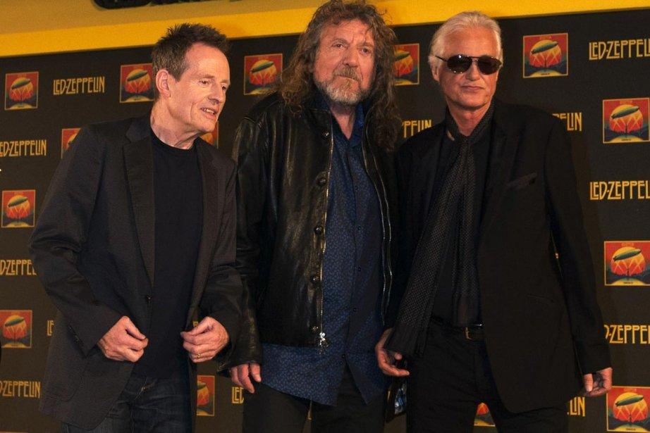 John Paul Jones, Robert Plant et Jimmy Page... (Photo: AFP)