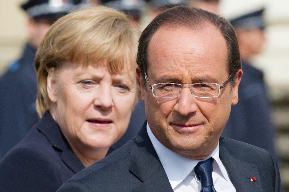 En déplacement samedi en Allemagne, François Hollande a... (PHOTO MARIJAN MURAT, AFP)