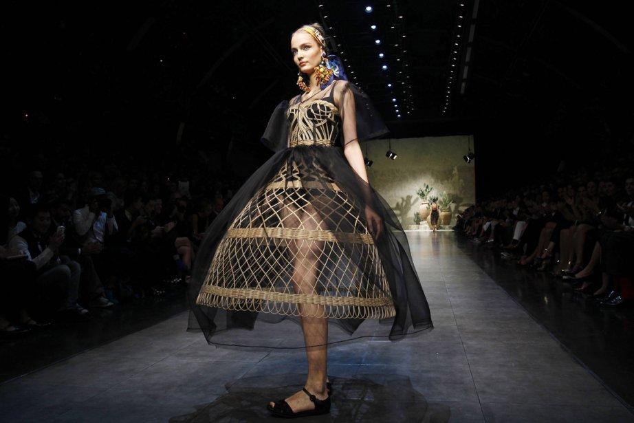 Création Dolce&Gabbana, printemps/été 2013 à Milan....