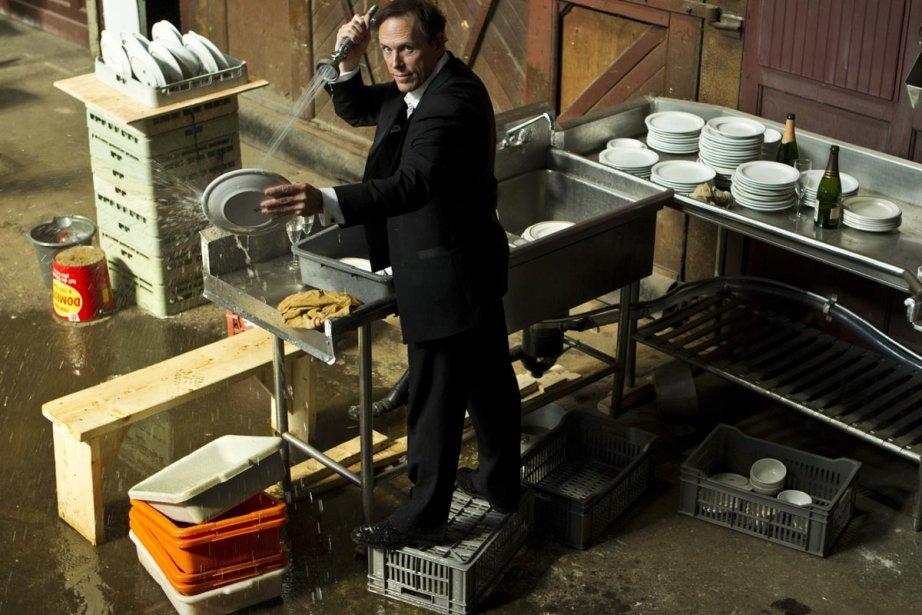 Stéphane Demers dans le décor des Diswasheurs, création... (Photo: Martin Chamberland, La Presse)