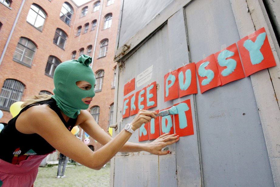 Une artiste russe qui se présente comme Margo... (PHOTO MICHAEL SOHN, AP)