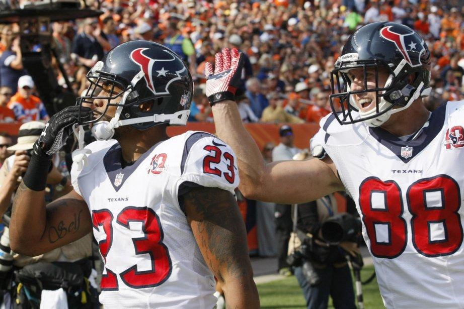 Arian Foster et Garrett Graham, des Texans de... (Photo: Reuters)