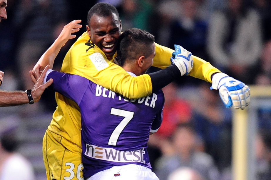 Le gardien Ali Ahamada, du Toulouse Football Club,... (Photo: AFP)