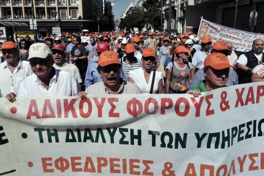 Sans surprise, le mécontentement face à l'austérité est... (Photo AFP)