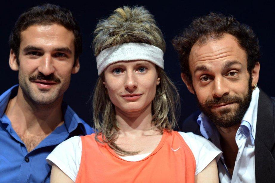 Sébastien Pouderoux, Marie Rémond et Clément Bresson dans... (Photo: AFP)