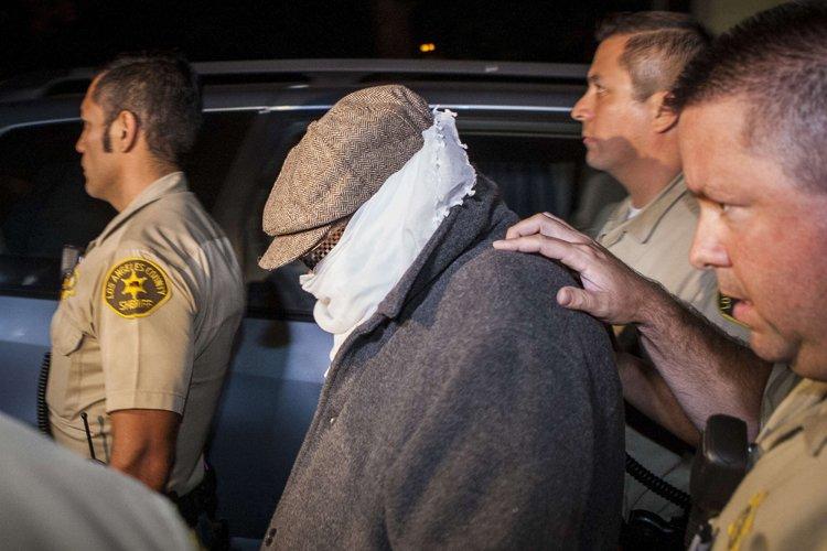 Nakoula Basseley Nakoula a été escorté par la... (Photo: Reuters)