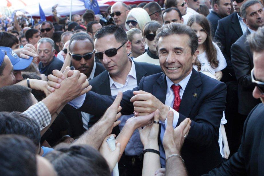 Le chef du parti Rêve géorgien,Bidzina Ivanichvili.... (PHOTO GEORGY ABDALADZE, AP)