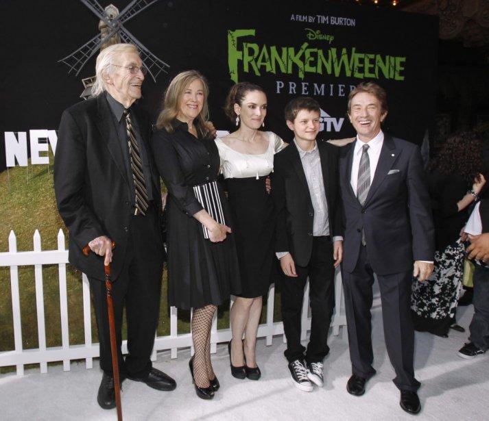 Martin Landau, Catherine O'Hara, Winona Ryder, Charlie Tahan et Martin Short | 1 octobre 2012