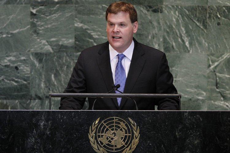 Le ministre John Baird a livré un discours... (Photo: AP)