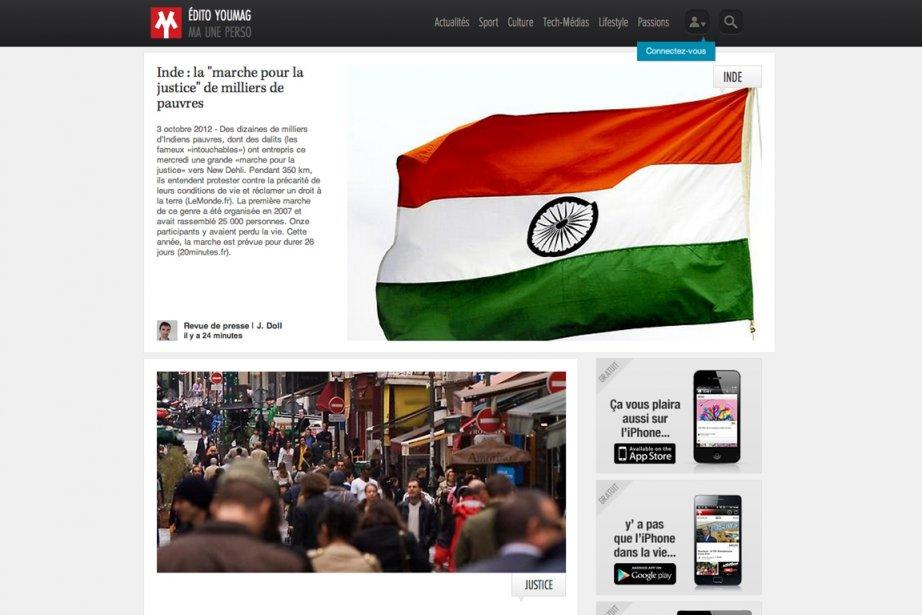 Youmag, «magazine personnalisé» sur le web, tablettes et... (Image tirée du Web)