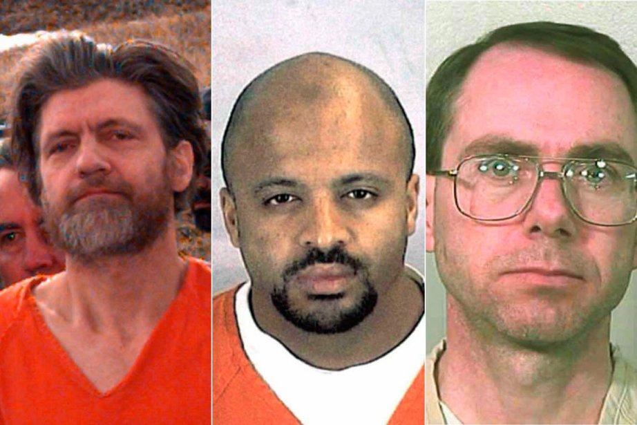 Ted John Kaczynski, Zacarias Moussaoui et Terry Nichols.... (Photos: Archives AP, Reuters)