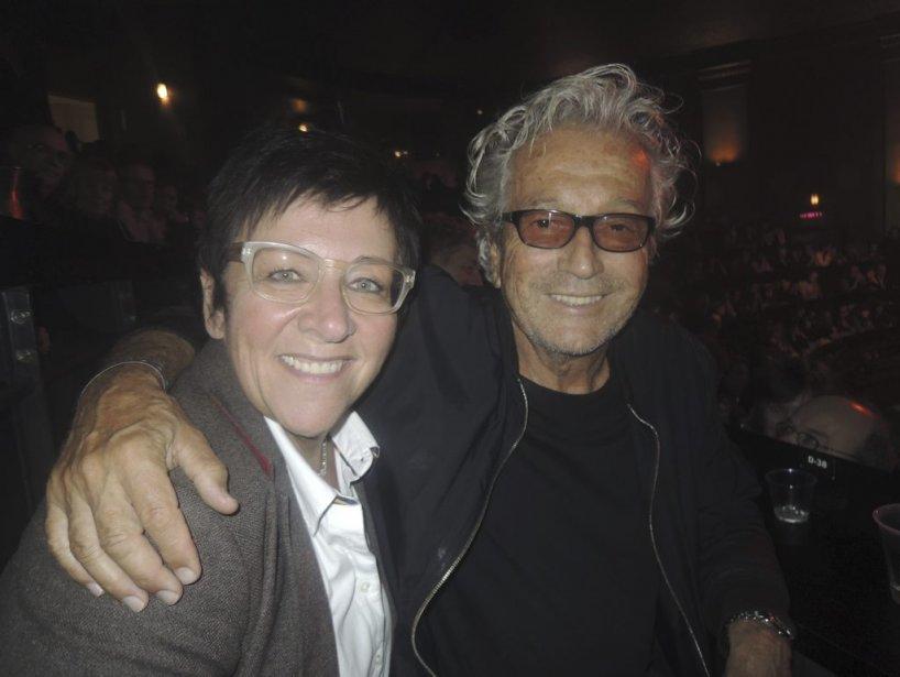 Hommage à Denis Blanchette : Assis au balcon, on a pu apercevoir Monique Giroux et Luc Plamondon. | 4 octobre 2012