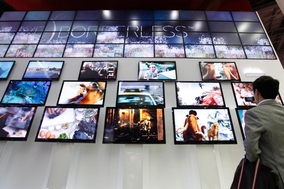 Télévisions à écran plat de LG Electronics... (PHOTO LEE-JAE-WON, REUTERS)