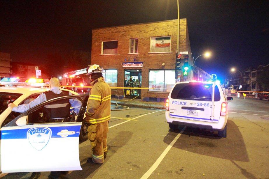 Les policiers ont été appelés la nuit dernière... (Photo: Félix-Olivier Jacques Fournier, collaboration spéciale)