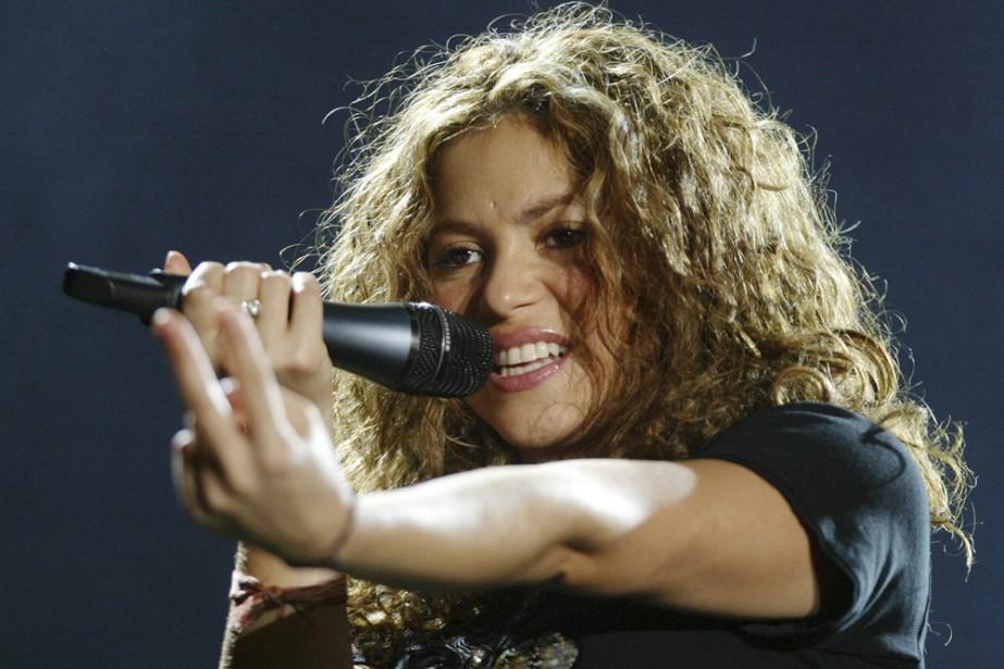 Shakira... (Photo: archives AFP)