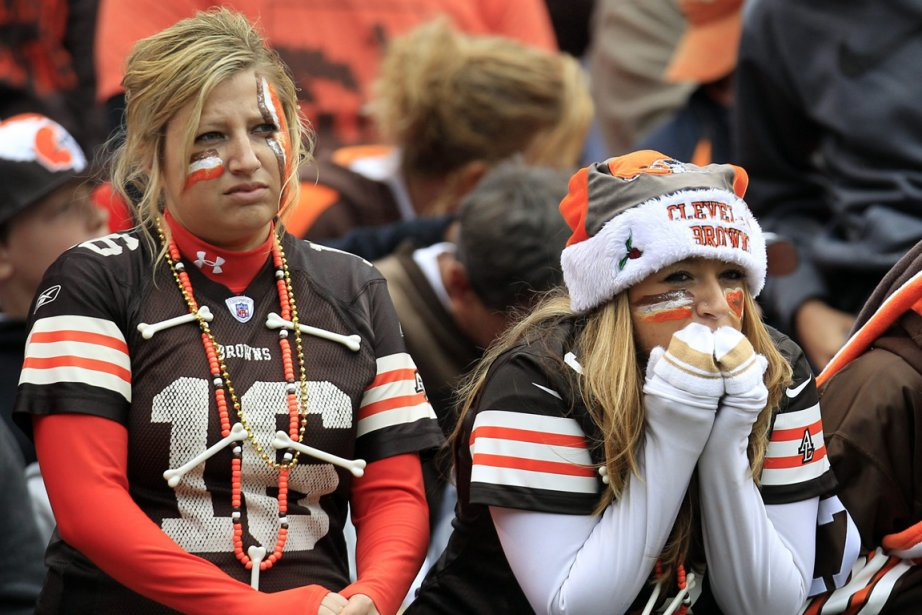 Les partisans des Browns de Cleveland attendent toujours... (Photo : AP)