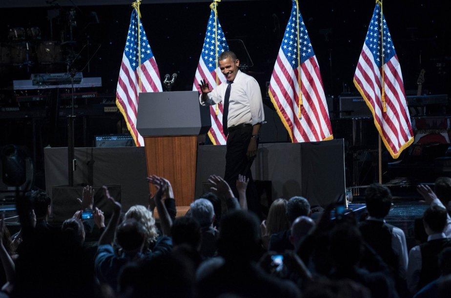 Le président américain Barack Obama a plaisanté sur son débat... (Photo AFP)