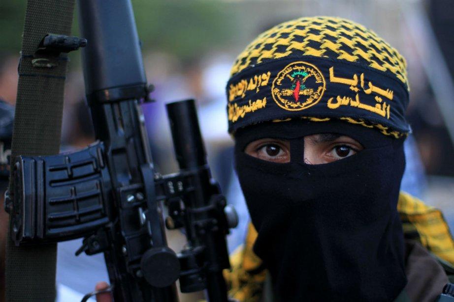 Un militant du Jihad islamique.... (Photo Mahmud Hams, Agence France-Presse)