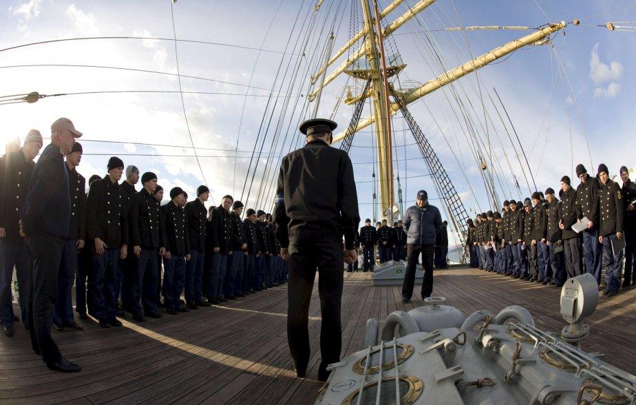 L'équipage du Kruzenshtern | 8 octobre 2012