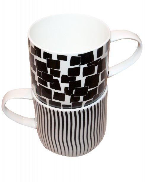 Tasses en porcelaine motifs graphiques, 19,99$ chacune chez Déec Table à Place Ste-Foy, Québec, 418 654-9456 | 8 octobre 2012