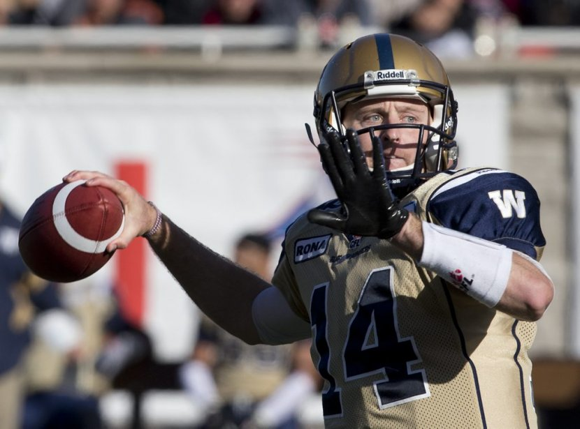 Le quart Joey Elliott des Blue Bombers. | 8 octobre 2012