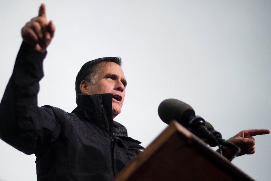Mitt Romney a pris soin de placer la... (Photo AFP)