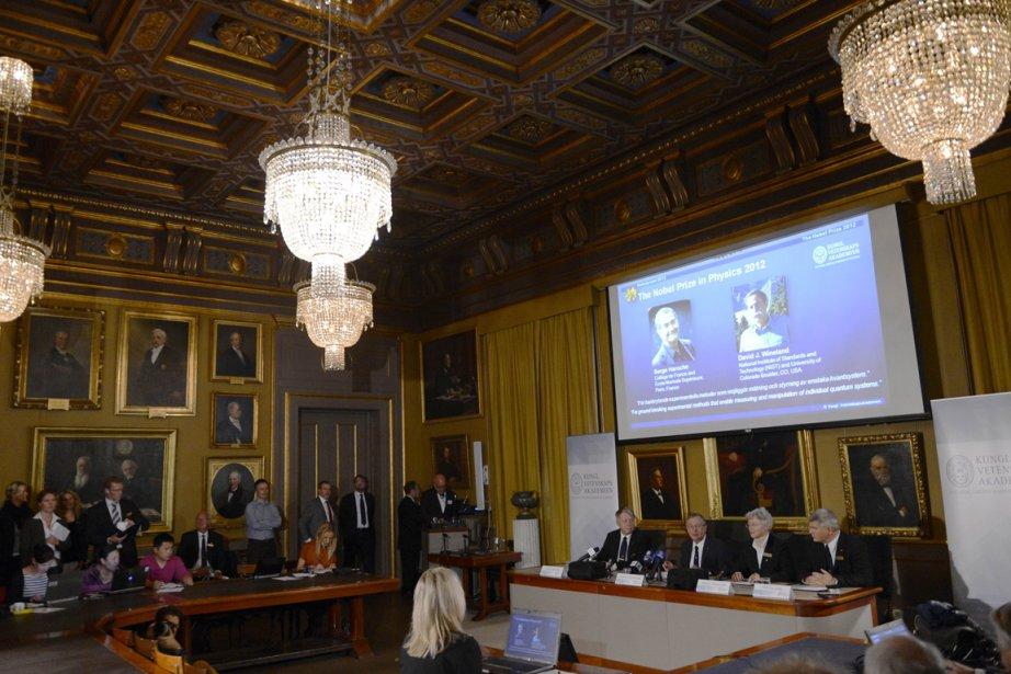 Le jury les récompense pour «leurs méthodes expérimentales... (Photo AFP)