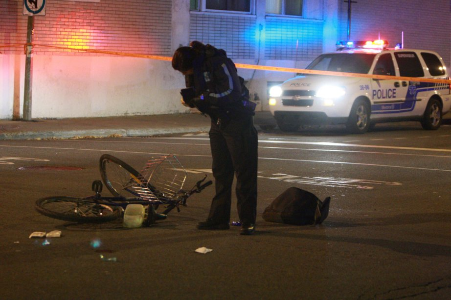 L'accident est survenu vers 23h45 à l'intersection des... (Photo Félix-Olivier Jacques Fournier, collaboration spéciale)