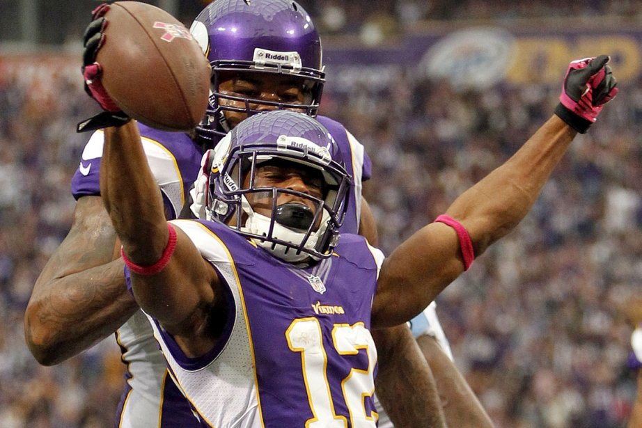 Percy Harvin et les Vikings du Minnesota passent... (Photo: Reuters)