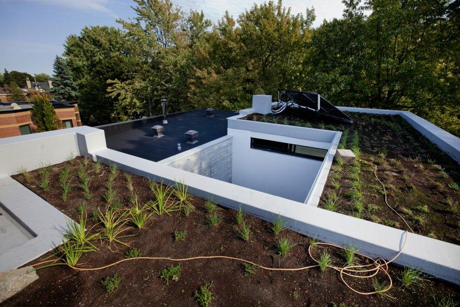 Un toit de fibre en verre présente... (Photo: Marco Campanozzi, La Presse)