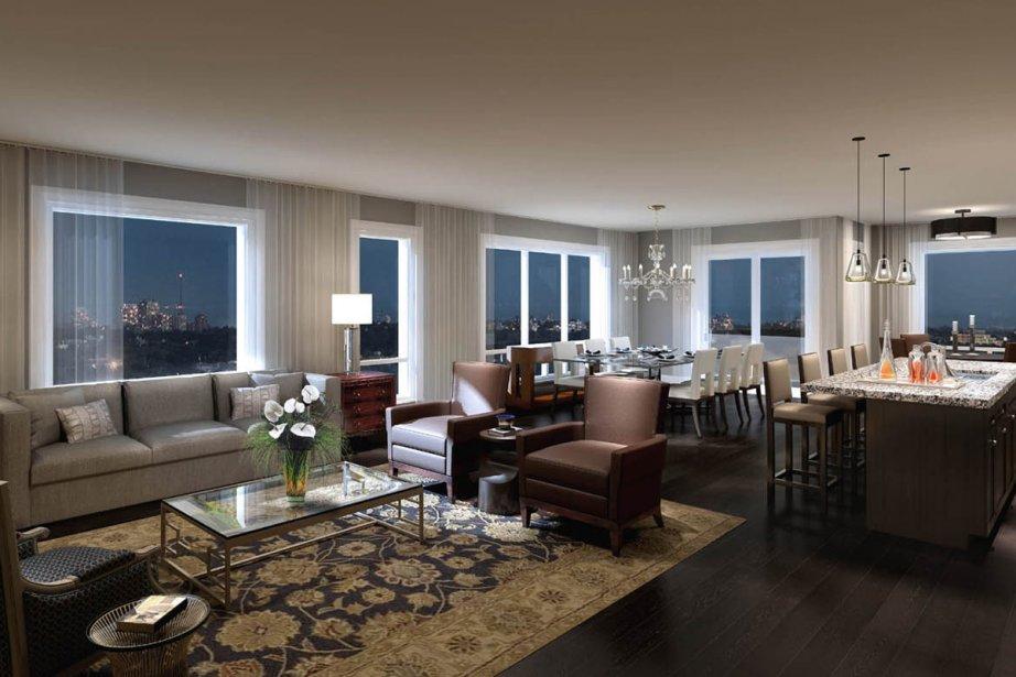 Le Belvédère comptera une centaine d'appartements.... (Photo fournie par le Groupe Benvenuto)