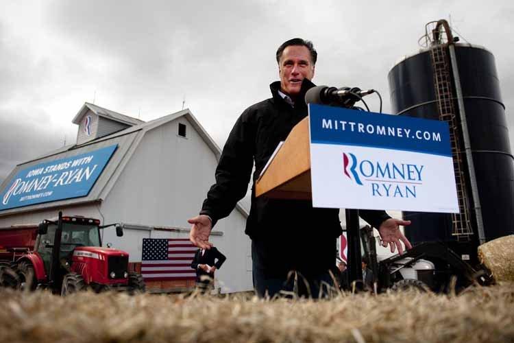 Avant l'Ohio, Mitt Romney a effectué une courte... (Photo: AFP)