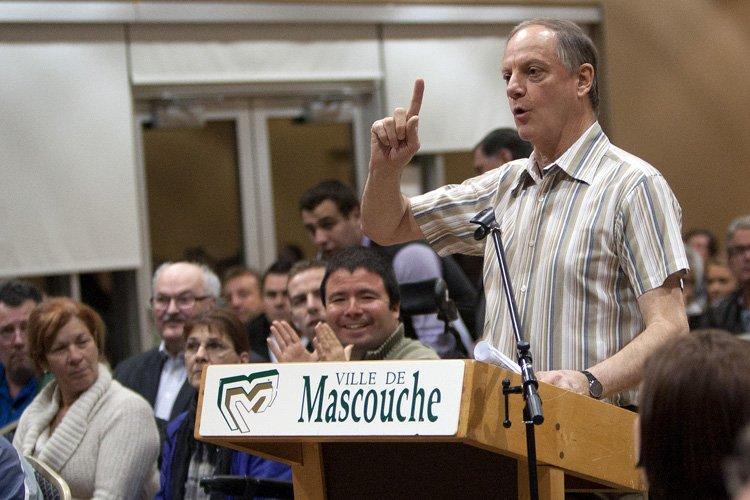 Un citoyen a accusé le maire Richard Marcotte... (Photo: Olivier Jean, Collaboration spéciale)