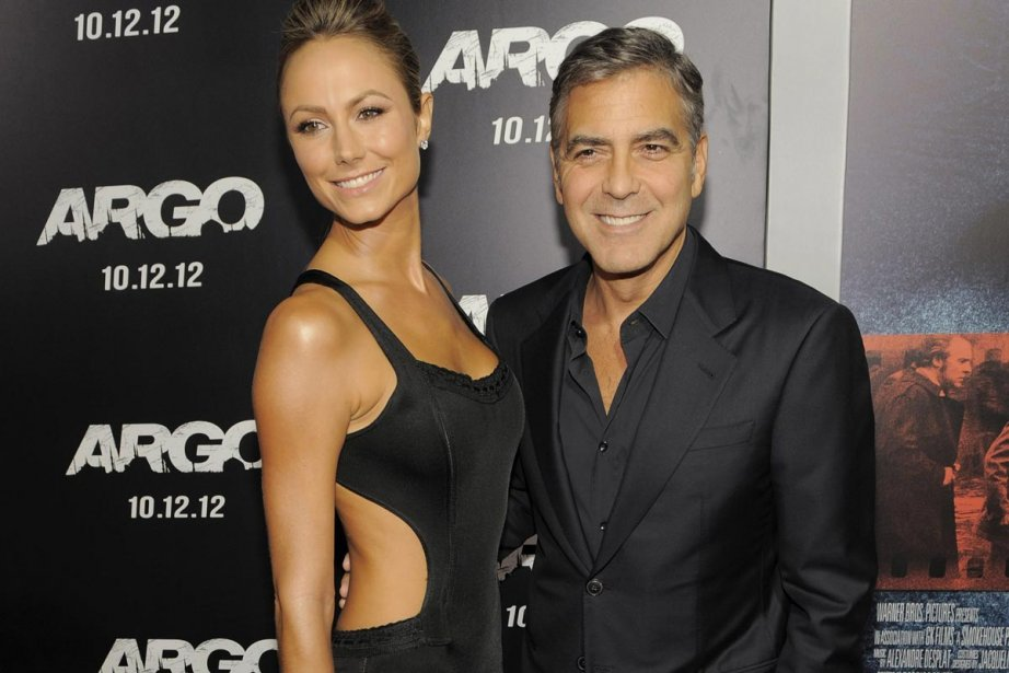 George Clooney, producteur d'Argo, en compagnie de sa copine Stacy... | 2012-10-10 00:00:00.000