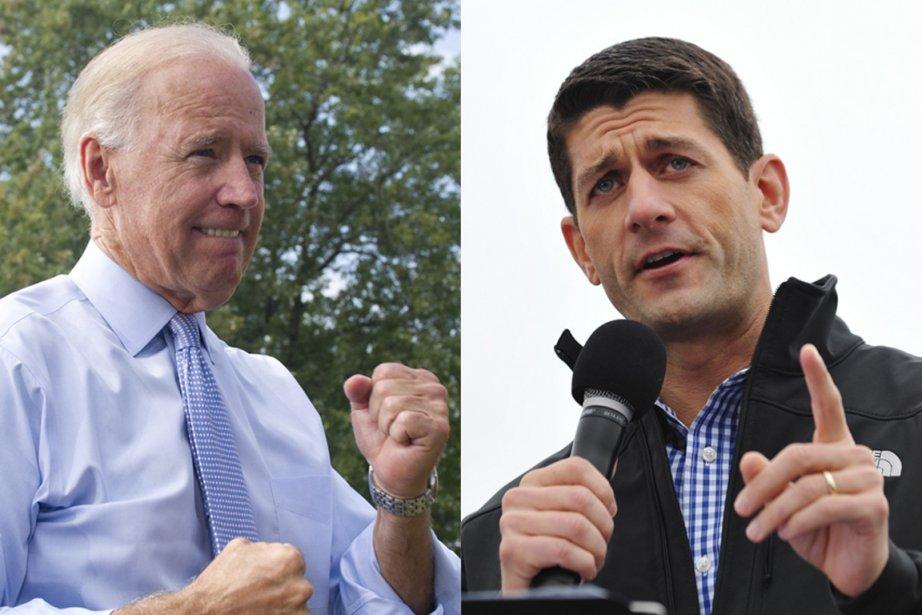 Le démocrate Joe Biden (à gauche) croisera le... (PHOTOS AFP)