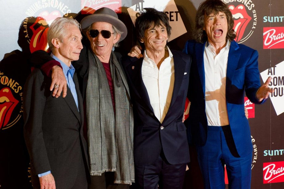 Charlie Watts, Keith Richards, Ronnie Wood et Mick... (Photo: AFP)